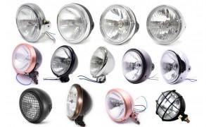 Phares et Optiques de phares neufs et complets.